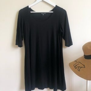 Eileen Fisher black tunic blouse